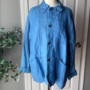 CP SHADES Linen SAGE - CHORE JACKET Blue Large